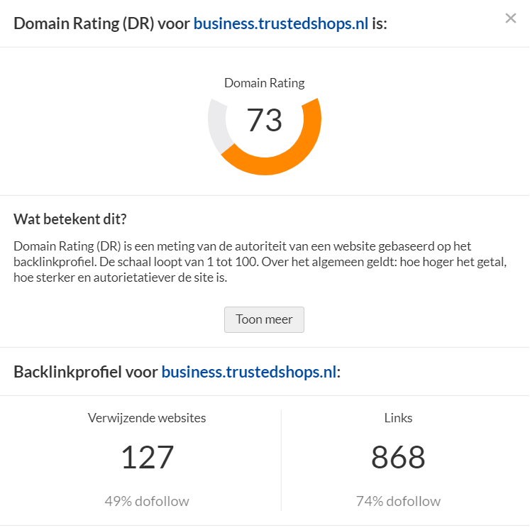 domain ranking Netherlands
