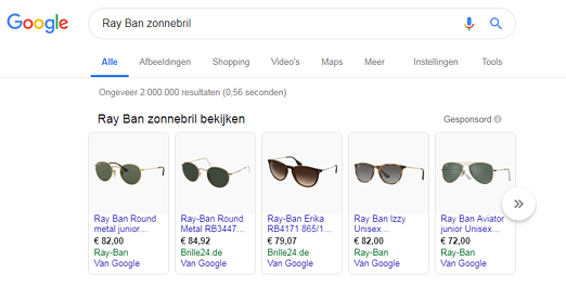 Ray Ban Google Shopping