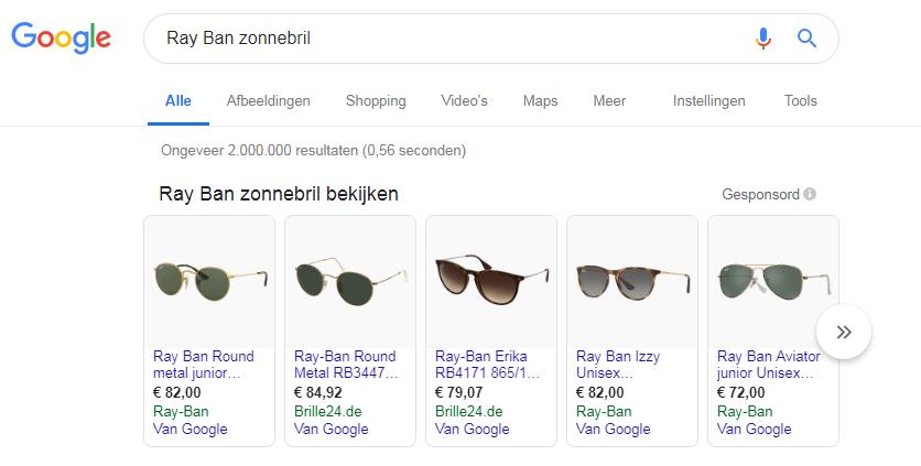 Ray Ban Google Shopping
