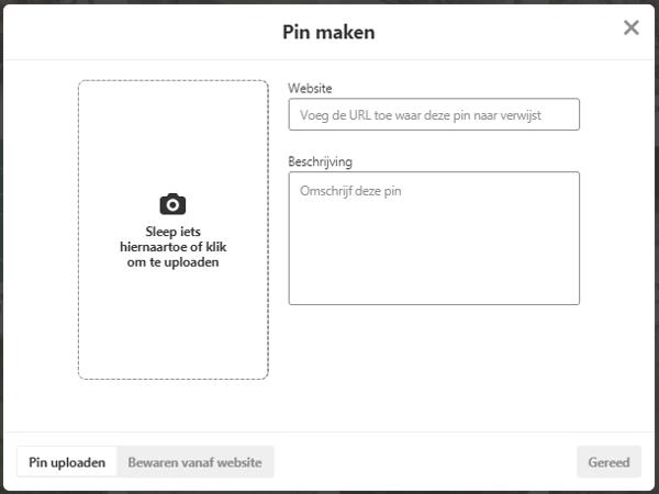 Pinterest pin maken