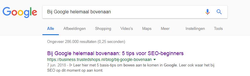 BijGoogleBovenaan
