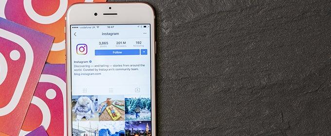 Instagram op mobiel