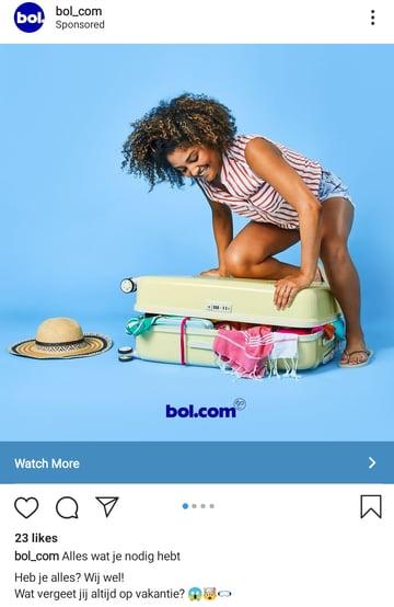 Instagram advertentie Bol.com