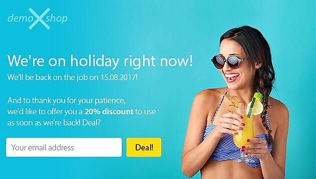 we're on holiday discount