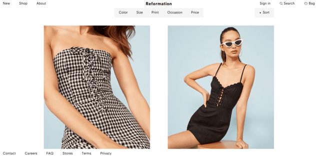 Reformation webshop