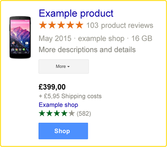Example Phone Google Stars